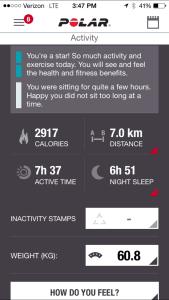 Fitness Details