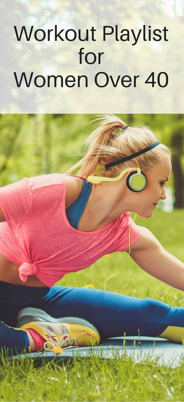 Workout playlist with women over 40 in mind! The songs you grew up with to push you work harder!