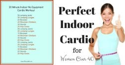 30 minute indoor no equipment cardio workout