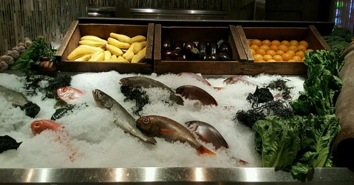 selection of fish on ice