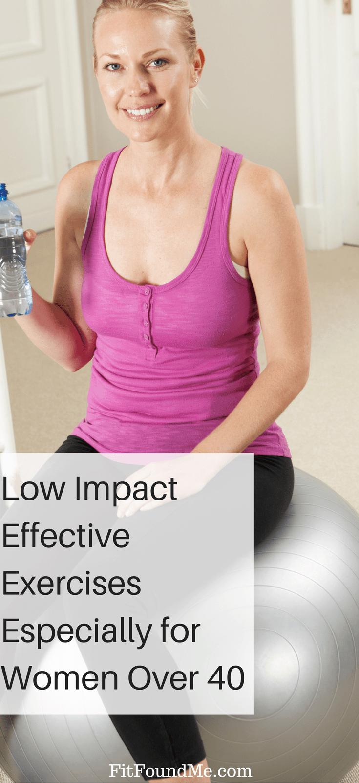 low impact exercises women over 40