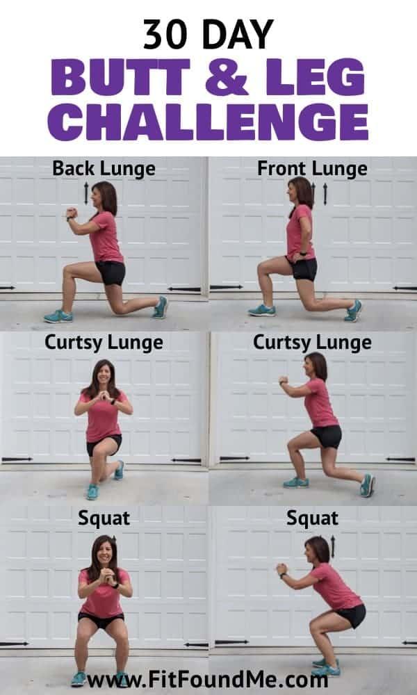 30 day leg challenge for women