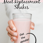 woman holding meal replacement shake