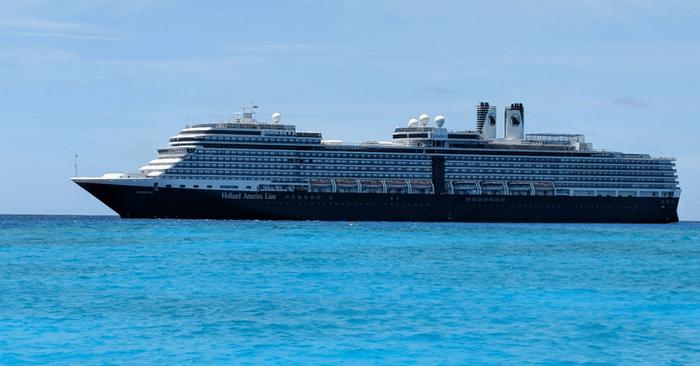 cruise ship off of st. maarten