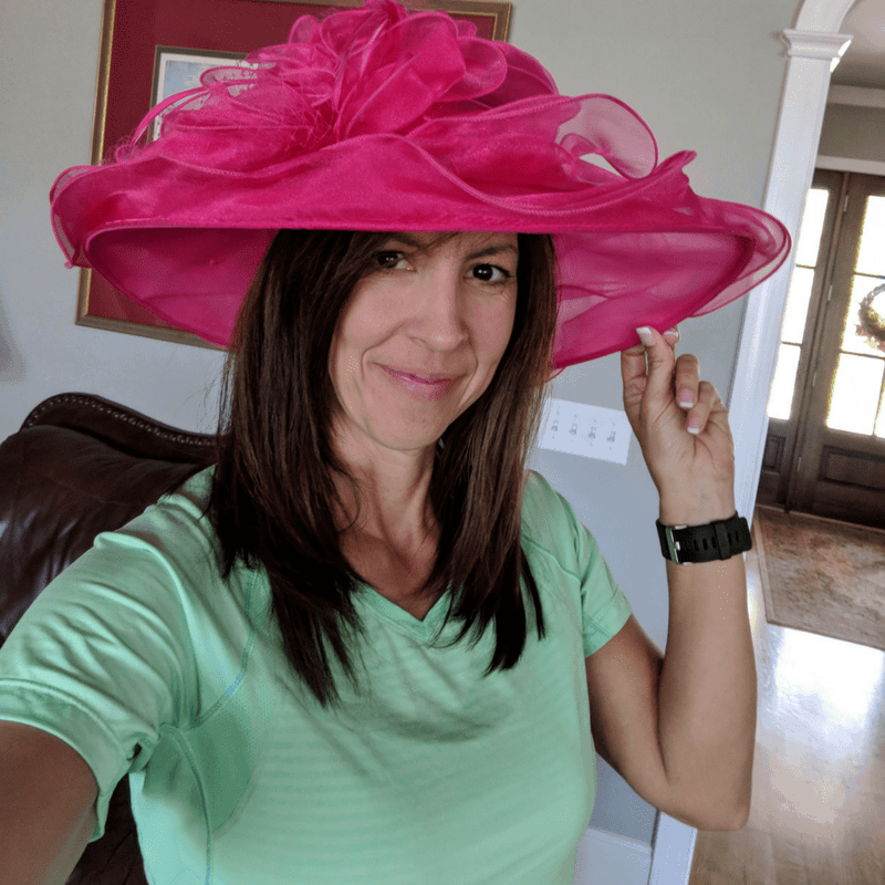 Stephanie in Kentucky Derby hat