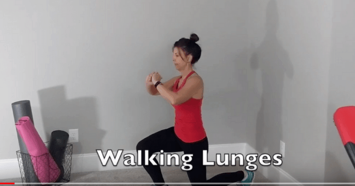 Walking lunges from It's My Time Now Weight Loss Program Transformation workouts