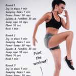 cardio workout at home list of exercises