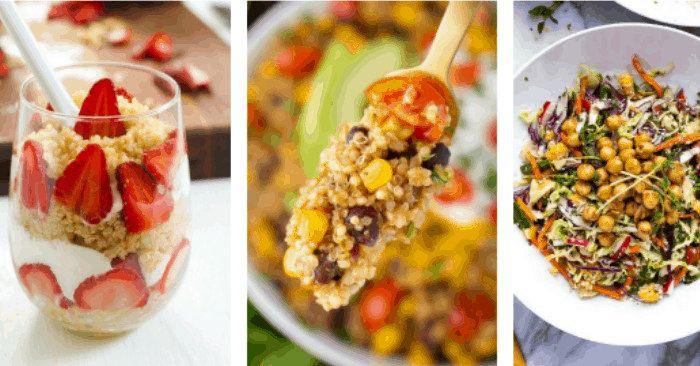 various healthy quinoa recipes side dishes and quinoa desserts