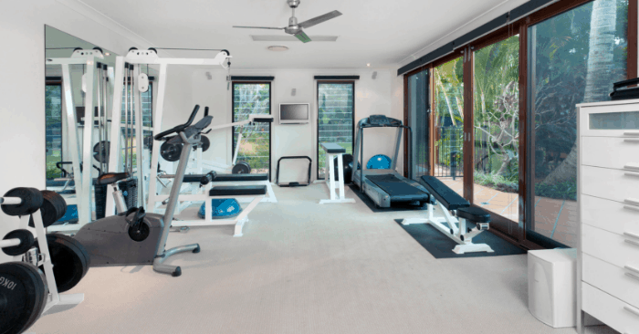 empty gym with best equipment for home gym