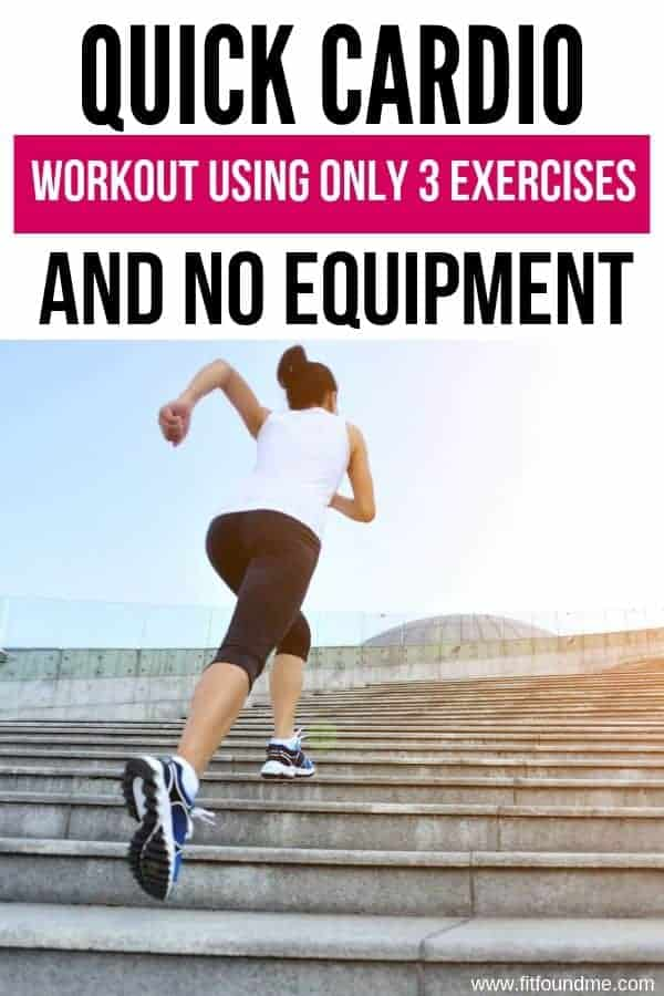 lady running up a flight of stairs for quick cardio using no equipment