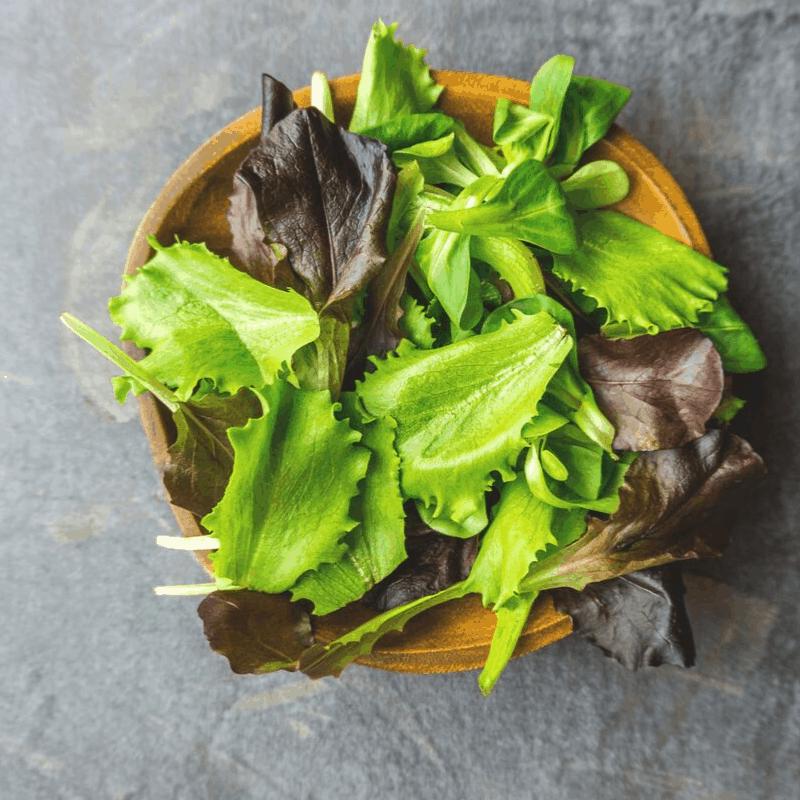 bowl of dark leafy greens
