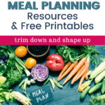 veggies with title 21 day fix meal planning resources and free printables