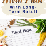 meal plan blank sheet with title weight loss meal plan with long term result