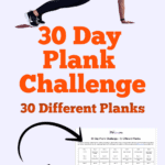 woman doing a plank with title 30 day 30 plank challenge print challenge now