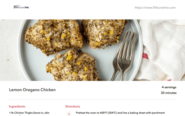 recipe example from meal plan chicken thighs recipe