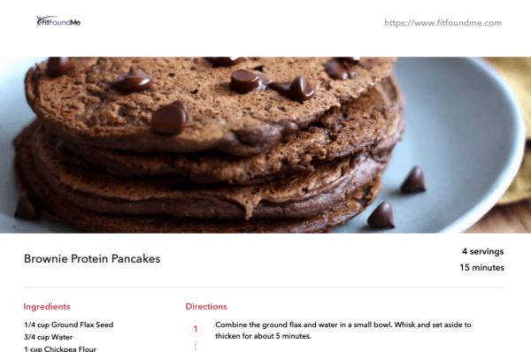 recipe example chocolate brownie pancakes