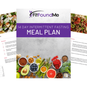 cover and a couple of recipes from 14 day meal plan recipe book
