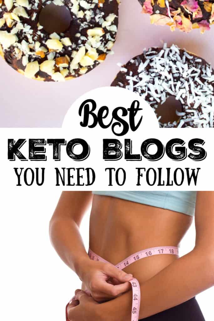 keto donuts and a lady who has lost weight measuring her waistline