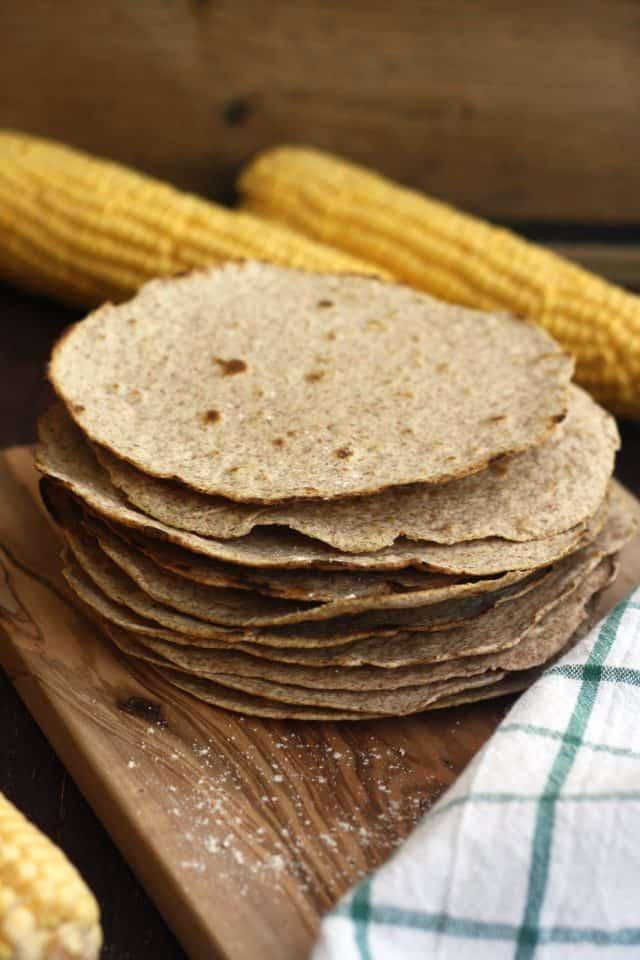 homemade whole wheat tortilla