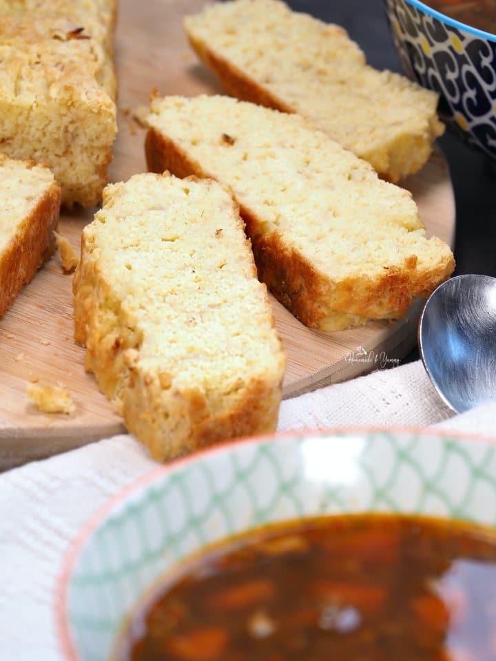 no yeast onion bread