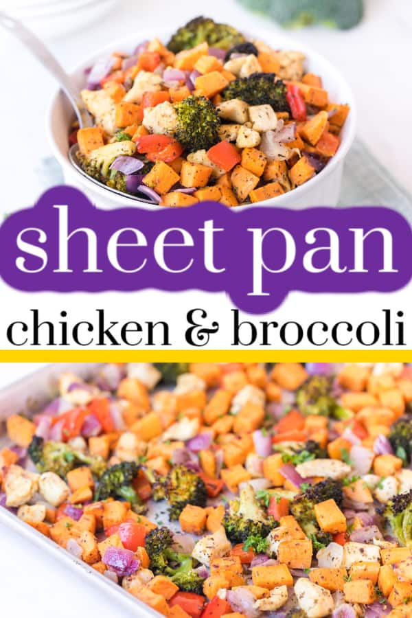 Easy, healthy dinners are my jam now and this chicken sheet pan dinner is a perfect example. In my house, dinners need to be healthy, easy and kid-friendly. Roasting vegetables are almost the only way I can get the kids to eat veggies. We are a busy family and the last thing I want to do is spend hours in the kitchen cooking. Sheet pan dinners are not only a quick prep but also an easy cleanup, which saves a lot of time. via @fitfoundme