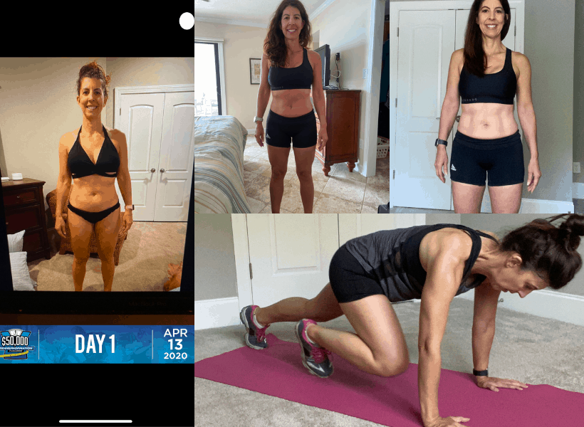 various challenge pictures progress and workout