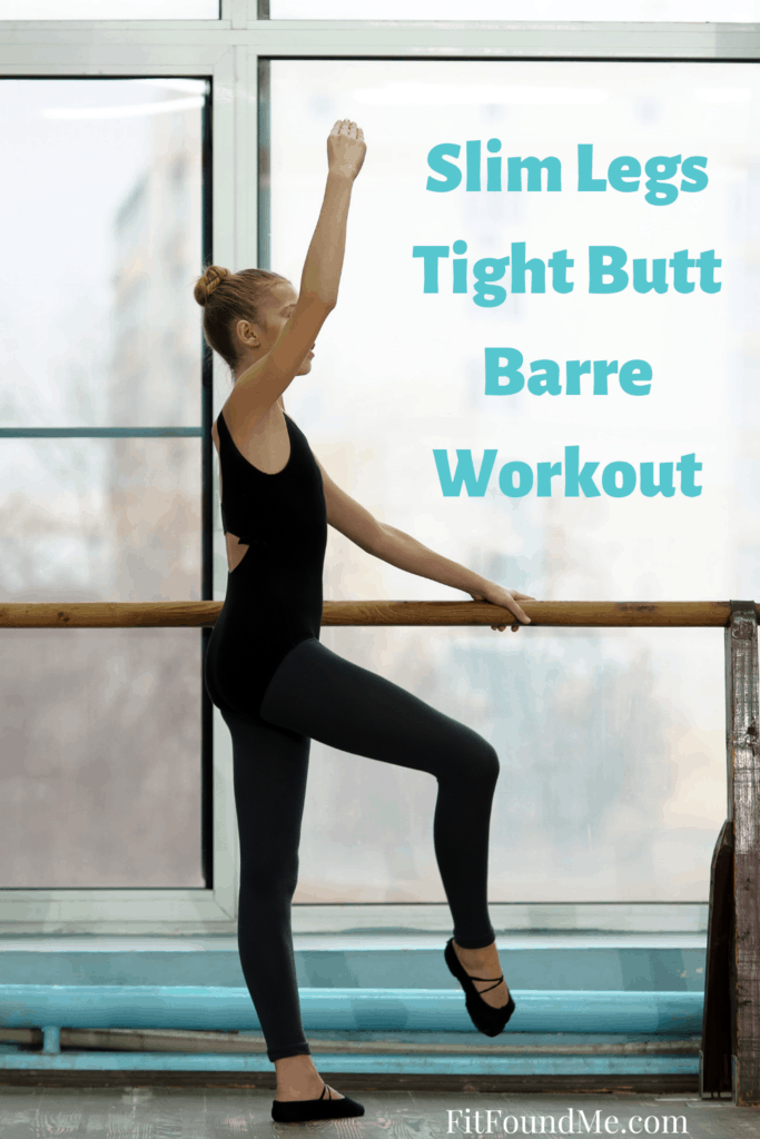 lady doing barre workout at home